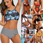 Women High Waisted 2Pcs Bikini Set Swimsuit Padded Push Up Swimwear Bathing Suit $6.43 USD on eBay