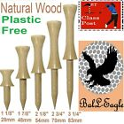 "NATURAL WOOD (Wooden) Graduated CASTLE Golf Tee Tees ""ZERO WASTE"" ""PLASTIC FREE"""