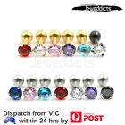 2-6pcs Earring 4mm Zirconia Gem Ear Stud Piercing Surgical Steel Jewellery