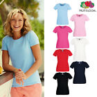 Women's Crew Neck Tee - Fruit of the Loom Lady-fit Fitted Cotton T-shirt 8-18