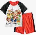 Внешний вид - New SUPER MARIO Pajamas Set Boy 4 10 NINTENDO Sleep Top Shirt Tee Shorts Bottoms