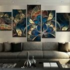 Vintage Abstract Fantasy Flower 5 Pcs Canvas Wall Art Print Picture Home Decor
