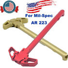 Kyпить Mil-Spec For AR 223 Charging Handle RED Metal Ambidextrous AMBI Handle Accessory на еВаy.соm