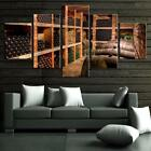 Wine Cellar Storage 5 Piece Canvas Art Wall Art Picture Painting Home Decor photo