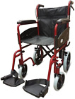 Z-Tec Folding Transit 601X Wheelchair - Aluminium with Attendant Brakes