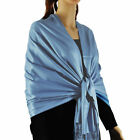 Chicastic Large Soft Silky Pashmina Shawl Wrap Scarf in Solid Colors Women Gifts