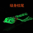 1PC 5cm Frog Lure Fishing Lures Treble Hooks Topwater Soft Bass Bait Tackle