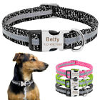 Nylon Reflective Personalised Dog Collar Quick fit Custom ID Name Free Engraved