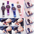 USA Luxury Starry Sky Watch Magnet Strap Free Buckle Stainless Steel Women Gift image