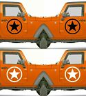 Set of 2 America US U.S. Army Distressed Star Vinyl Decal Sticker Dodge $5.95 USD on eBay