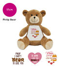 Personalised Philip Name Teddy Bear Pun Funny Valentines Day Gifts for Him Her
