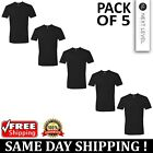 5 PACK OF Next Level Plain Mens Black T Shirt S to XL Blank Cotton T-Shirt Tee image