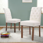 2 Pcs Dining Side Chairs w/ Backrest Dinette Room Comfortable Kitchen Furniture