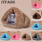 Large Pet Cat Dog House Puppy Kennel Cushion Cave Sleeping Bed Soft  Warm Nest