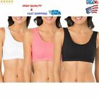 New Fruit of The Loom Women's Built-Up Sports Bra 3 Pack More Colors & Size