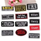 Embroidered Patch Name Tags Iron on Badges Rectangle Badge Jacket Hat Bag Tags $0.99 USD on eBay