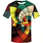 Men Big Plus Size Beautiful Graphic Geometric Animal T-Shirts Casual Tops Tees