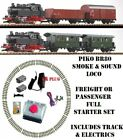 NEW PIKO SMOKE & SOUND G SCALE 45mm GAUGE STARTER TRAIN PASSENGER OR FREIGHT SET