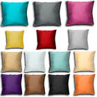 "Cushion Covers Plain Faux Silk 18"" X 18"" - Satin Slub"