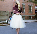 7 Layers Women A Line Tulle Tutu Skirt Party Princess Ballet Dress Knee Length