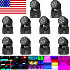 8pcs Lixada DMX-512 Mini Moving Head Light 4 In 1 RGBW LED Stage Light 9/14 -US