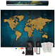Exty Scratch Off World Map - 24x17 | Deluxe Travel Wall Poster | USA States -