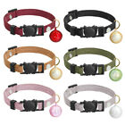 6pcs/pack Cat Safety Breakaway Collars Kitten Collar with Bell Neck Strap Buckle