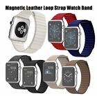 Leather Loop Magnetic Wrist Watch Band For Apple Watch Series 3 2 1 42mm 38mm image