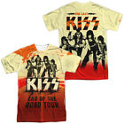 KISS End Of The Road Tour Sublimation Two Sided Licensed Adult T-Shirt image