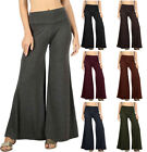 Soft PREMIUM FABRIC High Waist Wide Leg Palazzo PANTS S ~ XL