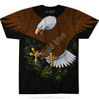 VINTAGE EAGLE-2 sided T-SHIRT-PATRIOTIC-S-M-L-XL-XXL-3X American Wildlife, Bald image