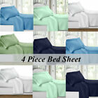 1800 Count Super Deluxe Hotel Quality 4 Piece Deep Pocket Bed Sheet Set US SHIP image