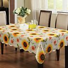 Warterproof Vinyl Tablecloth with Flannel Backed  Rectangle/Oblong (12 Patterns)