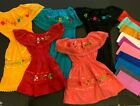 Внешний вид - Girl Dress Mexican Lace Embroidered Flowers on front Variety of color Size 1-4T
