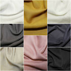 100% Viscose Soft Linen Look Fabric Dress Material - 8 Colours 140cm Wide.