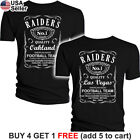 Raiders T-Shirt Oakland Whiskey Graphic Men Cotton JD Whisky Las Vegas