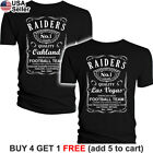 Oakland Raiders T-Shirt Whiskey Graphic Men Cotton JD Whisky Las Vegas $10.75 USD on eBay