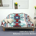 Bohemian Tribal Ethnic Geometric Blanket Throw Rugs Home Sofa Couch Tapestry US image