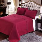 Luxury Burgundy Quilted Wrinkle Free Microfiber Coverlet Set with Shams image