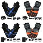 1 Pair Electric Heated Warm Hands Gloves + 2Pcs 4000mAh Rechargeable Battery
