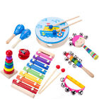 Musical Instruments Toys Set Kids Gift Wooden Rhythm Band Durable Fashion Hot