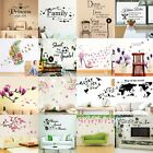 Flower Tree Quotes Wall Sticker Art Living Room Removable Decals Home Decor