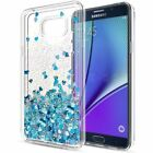 For Samsung Galaxy J3 J5 A6 J7 A8 Case Glitter Liquid Quicksand Clear Soft Cover