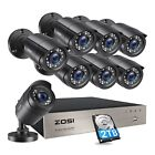 ZOSI 4CH 8CH 1080P HDMI DVR 720P Outdoor Surveillance Security Camera System 1TB $125.99 USD on eBay
