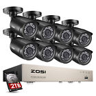ZOSI 4CH 8CH 1080P HDMI DVR 720P Outdoor Surveillance Security Camera System 1TB