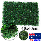 Au 40x60cm Artificial Hedge Fake Vertical Garden Green Wall Plant Mat Fence Home