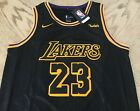 New Lebron James Jersey Los Angeles Lakers #23 Mens Gold / Black USA S-XXL