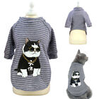 Small Dogs Clothes French Bulldog Chihuahua T-shirt Cotton Kitten Cat Coat Vest