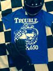 TROUBLE TRIUMPH 650 Tee bonneville tiger engine t140 t120 trophy frame hardtail $15.99 USD on eBay