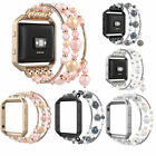 US Fashionable Beaded Jewelry Elastic Bracelet For Fitbit Blaze Band with Frame image